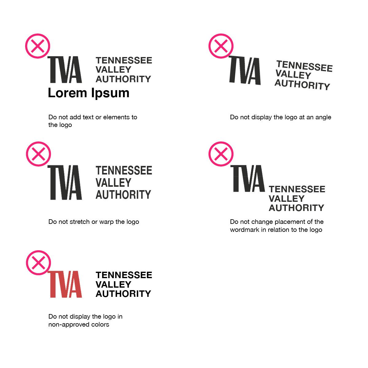 TVA Logo Incorrect Use