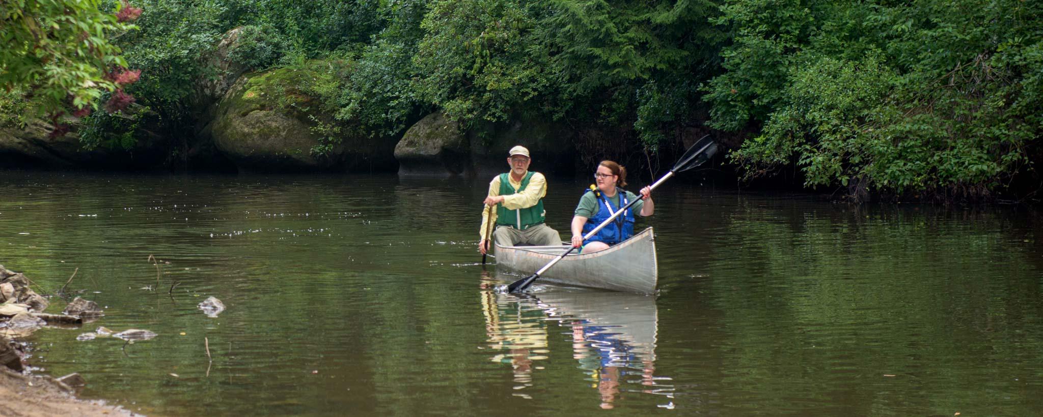 Canoeing on Bear Creek
