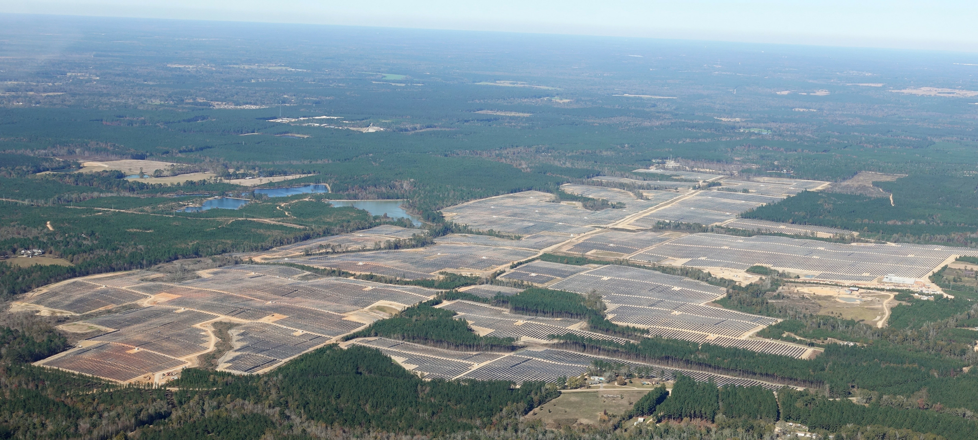 The Golden Triangle II solar project will look similar to the Origis Energy solar installation in Lamar County, Miss.