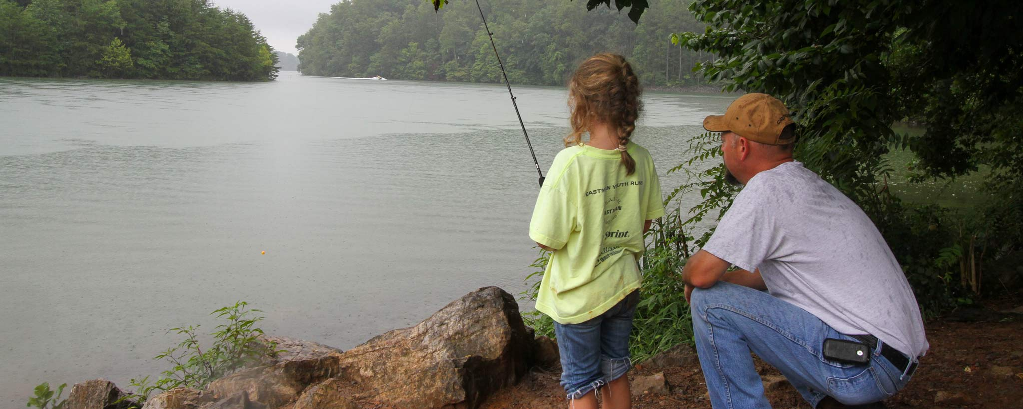 Boone Fishing Father Daughter