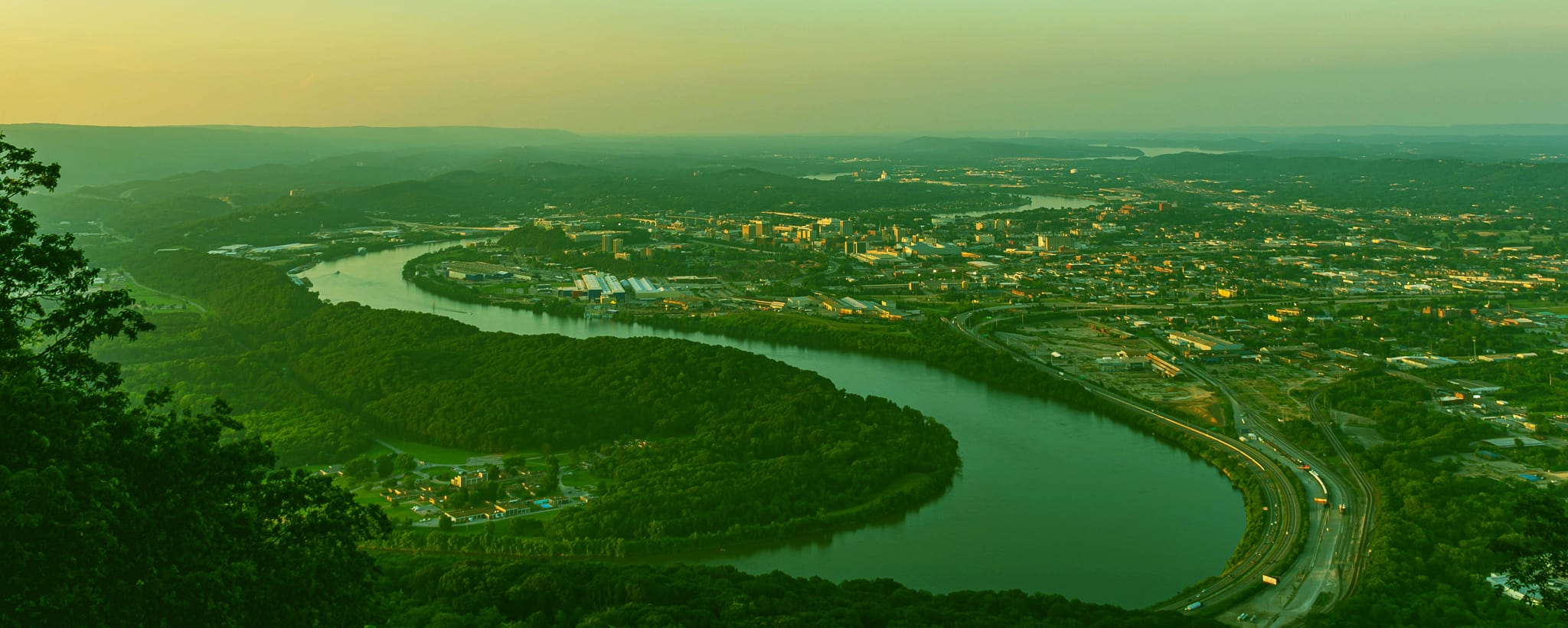 TN river passing by a city