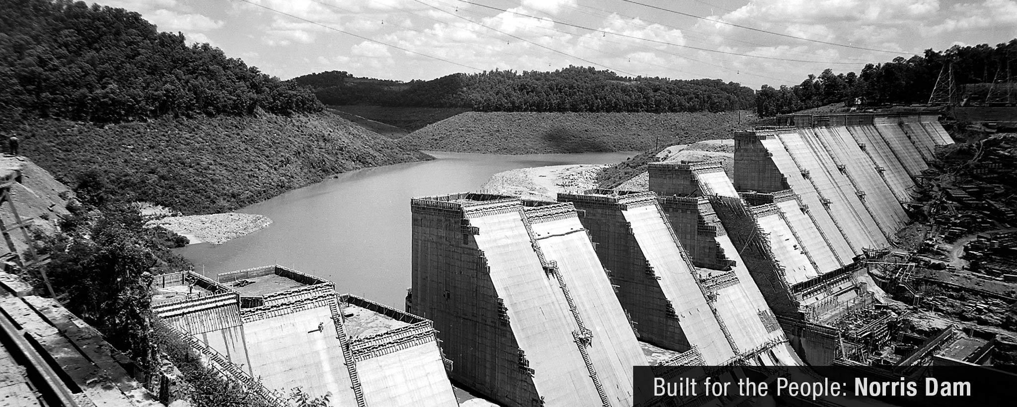 Norris dam construction