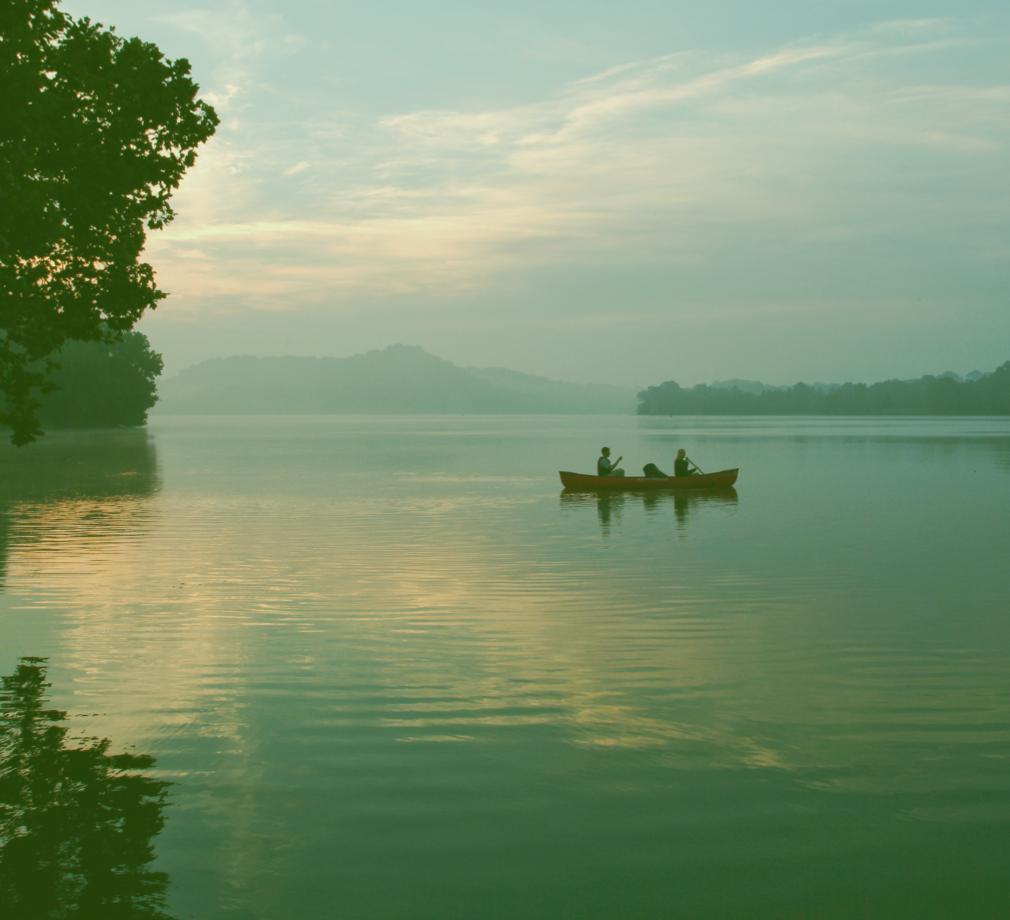 Fishing on the reservoir
