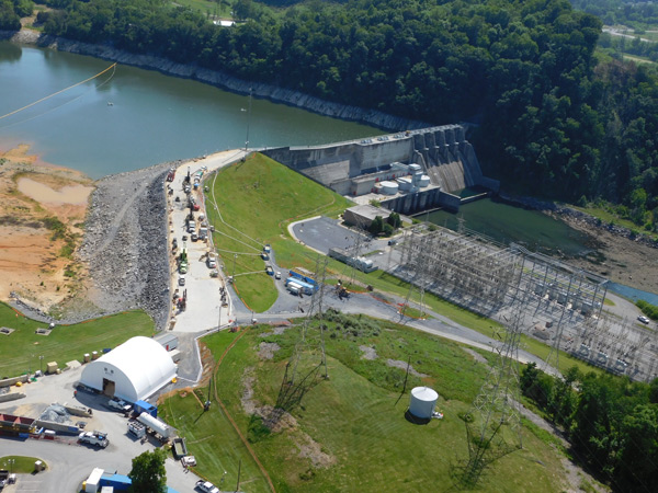 Aerial Boone Dam