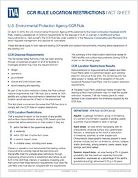CCR Rule Location Restrictions Fact Sheet