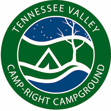 Camp-Right Logo Green Background