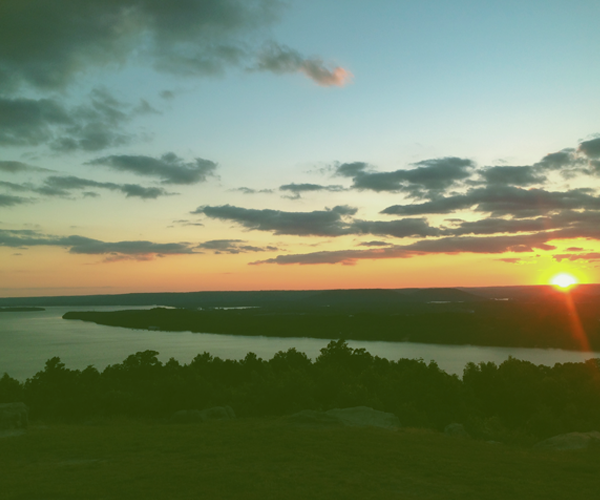 Sunset view with river