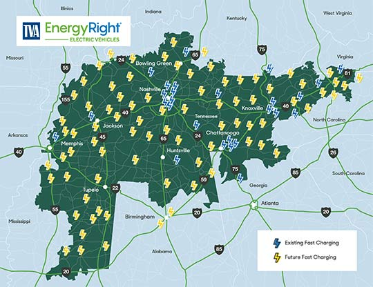 EV Map of charging stations