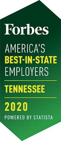 Forbes America's Best in State Employers Tennessee 2020
