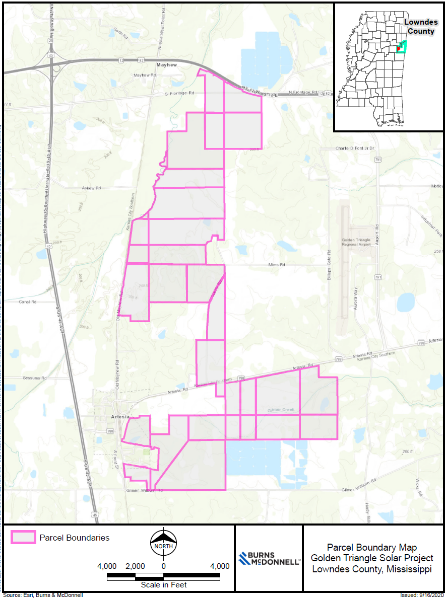 Golden Triangle Solar Project Map