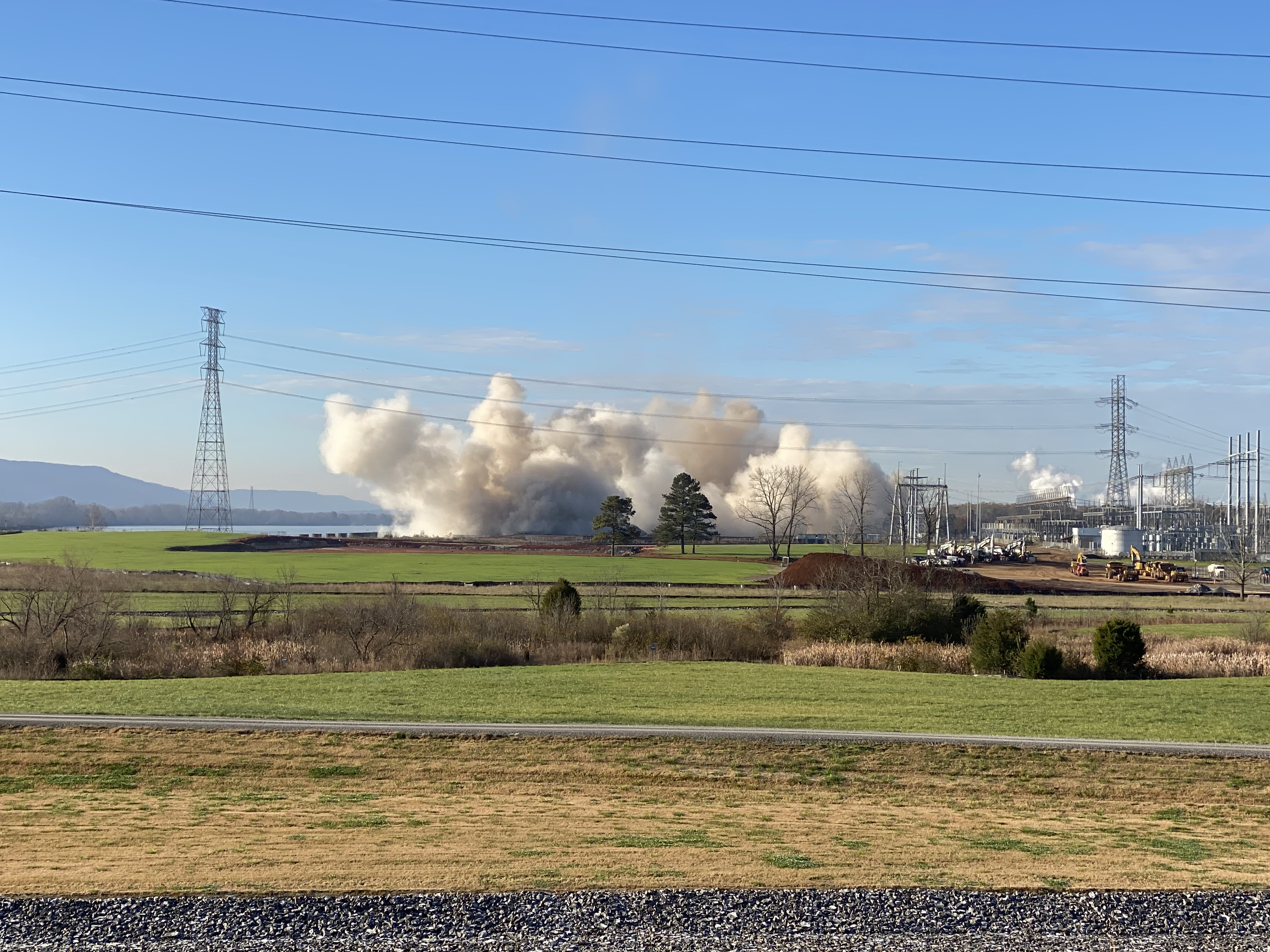 Widows Creek Fossil Plant After Stack Implosion