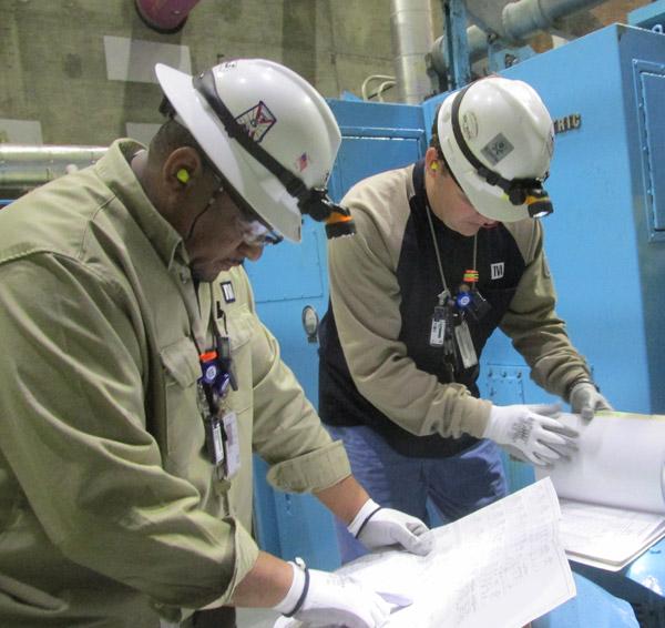 Ken Williams and Chris Golden - Browns Ferry electrical maintenance technicians