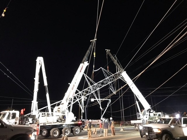 transmission tower repair