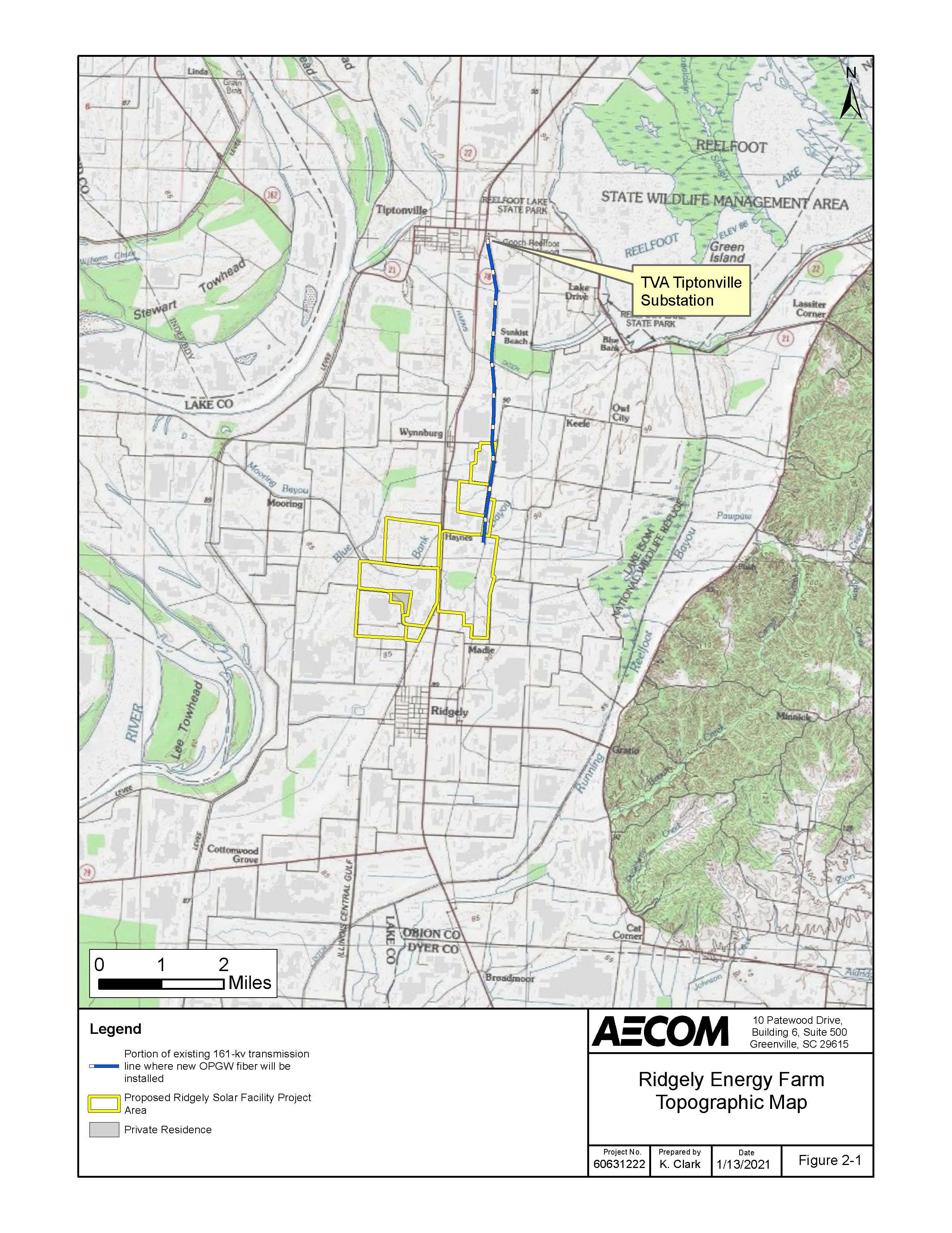 Ridgely Solar Site Topo Map