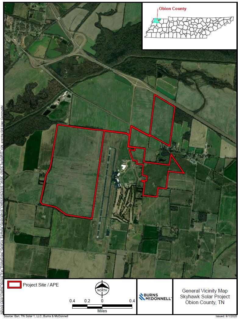 SkyHawk Solar Project Location Map_Obion County, TN