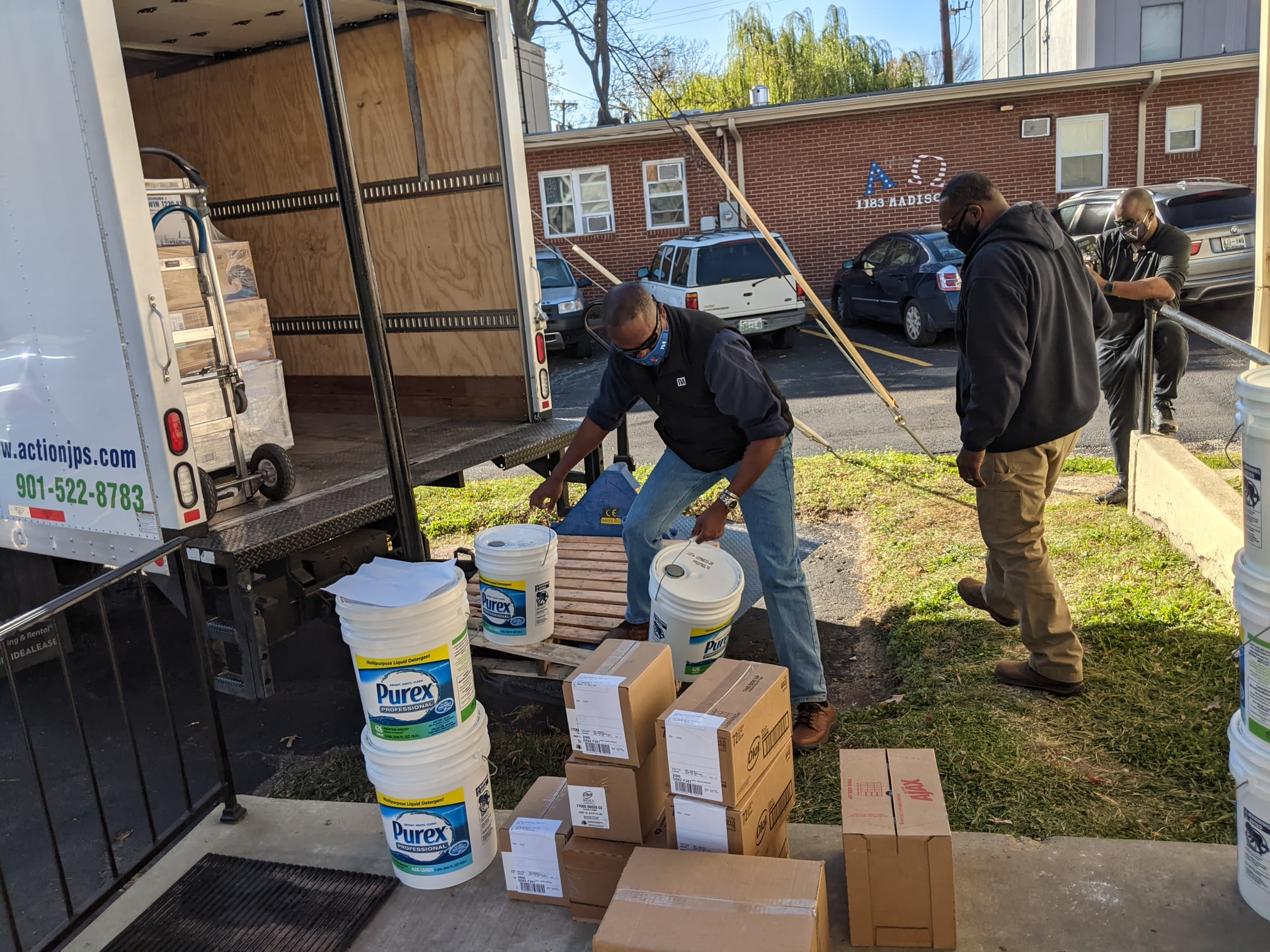 delivering supplies to veterans in need