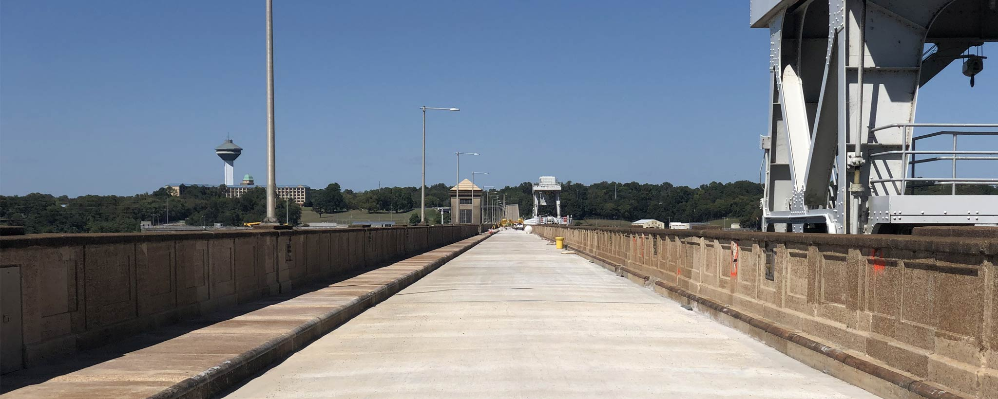 completed construction on Wilson Dam bridge